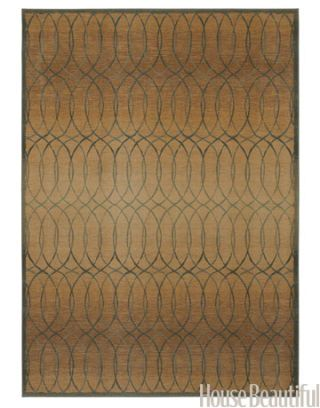 rug with a rhythmic pattern