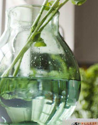 a glass flower vase