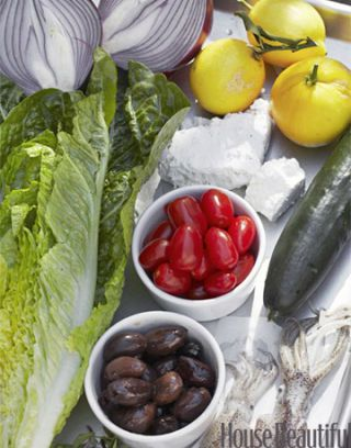 ingredients for a greek salad