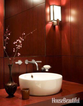 Modern Red Bathroom Gallery