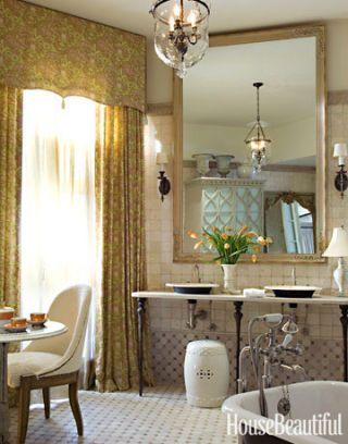 grandly scaled bathroom