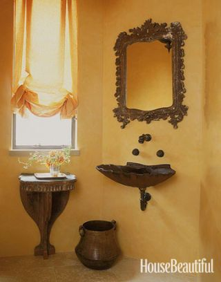quaint and ornate bathroom