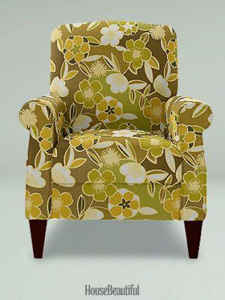 upholstered green chair
