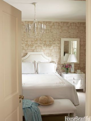 White And Camel Bedroom