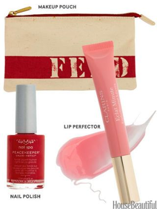 clarins lip perfector and peacekeeper nail polish