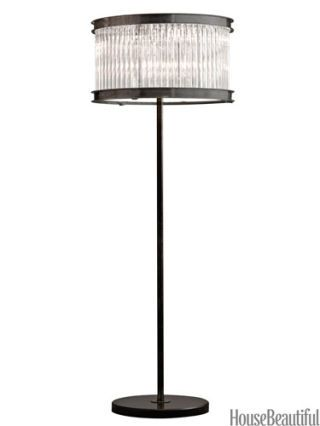1920s essex crystal rod lamp