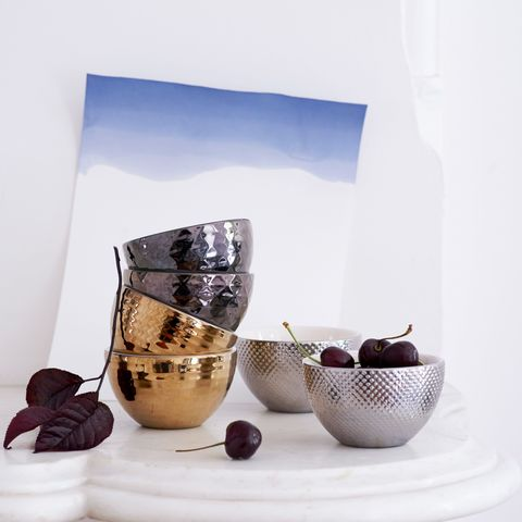 west elm metallic bowls