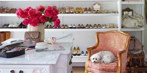 Take A Cue From These Glamorous, Modern Closet Designs And Paint Your Walls  With A Punchy Hue, Add A Plush Chair, Or A Hang A Beaded Chandelier.