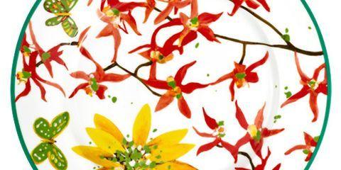 tablescape floral plate
