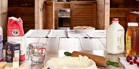 baking ingredients in a kitchen