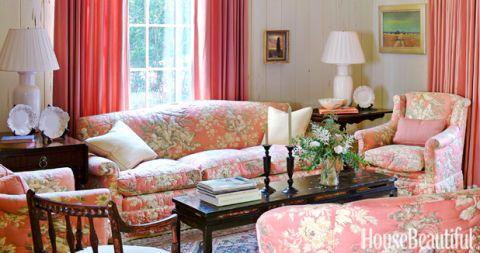 Nice Pink Floral Sofa