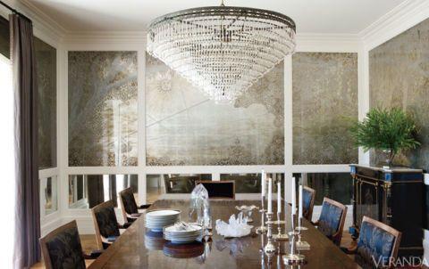 Interior design, Room, Ceiling, Light fixture, Table, Glass, Wall, Interior design, Dishware, Floor,