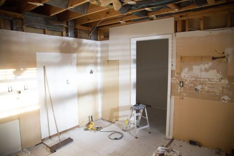 Floor, Room, Wall, Ceiling, Beige, Electrical supply, Plywood, Electrical wiring, Building material, Beam,