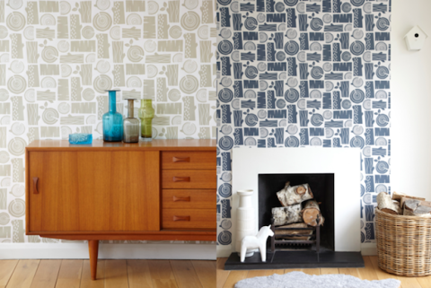 Her background in graphic design to wallpaper below she chats about her line roddy mid century modern