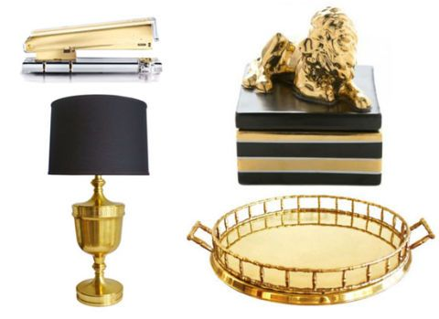 Black And Gold Home Accessories