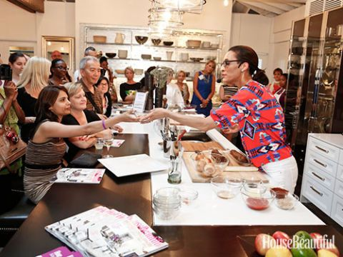 carla hall cooks for the crowd