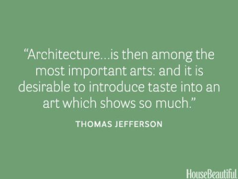 thomas jefferson architecture quote