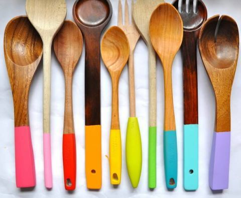 2. Dip Dye Your Wooden Spoons