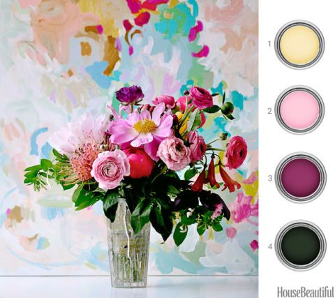 Paint Palette Flower Arrangement Paint Inspiration