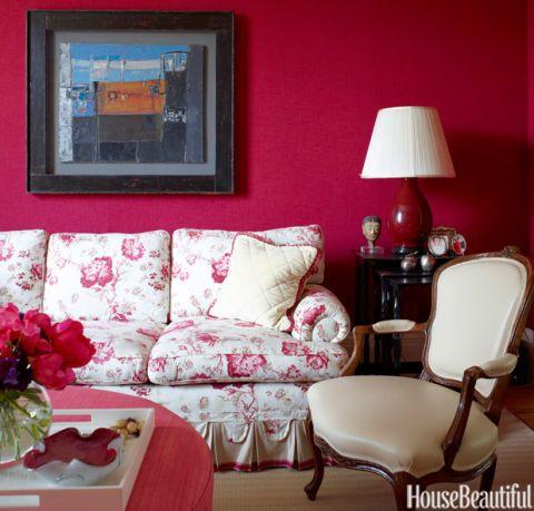 English Floral Sofa
