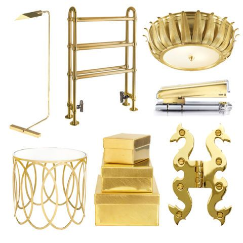 Gold Home Accessories - Gold Home Decor