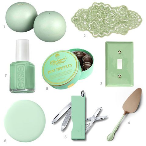 Mint green home decor