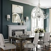 inlaid ebony dining table