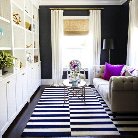 Blue, Room, Interior design, Green, Floor, Flooring, Property, Home, Living room, Purple,