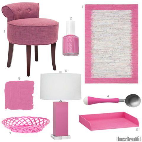 Bubblegum Pink Accessories Pink Home Decor