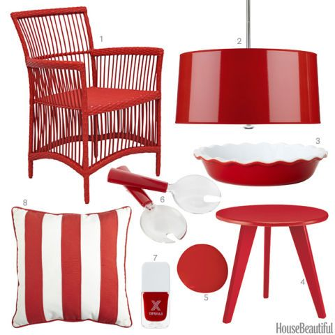 Patriotic Red Accessories - Red Home Decor