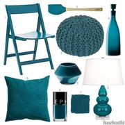 peacock blue accessories