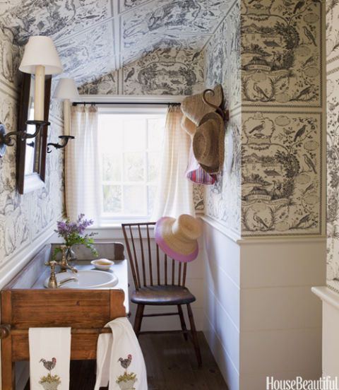 toile bathroom decor