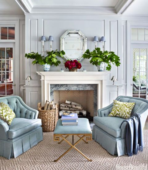 Lovely Blue Living Room Chairs Amazing Ideas