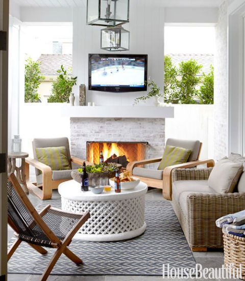 an outside room with rustic decor & Masculine Decorating - Decorating for Men