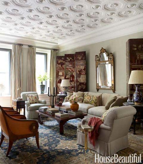 ornate ceiling - Michael S Smith Interior Designer