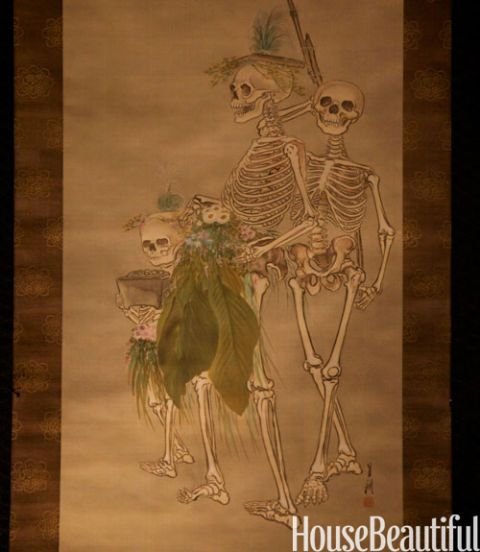 skeleton painting