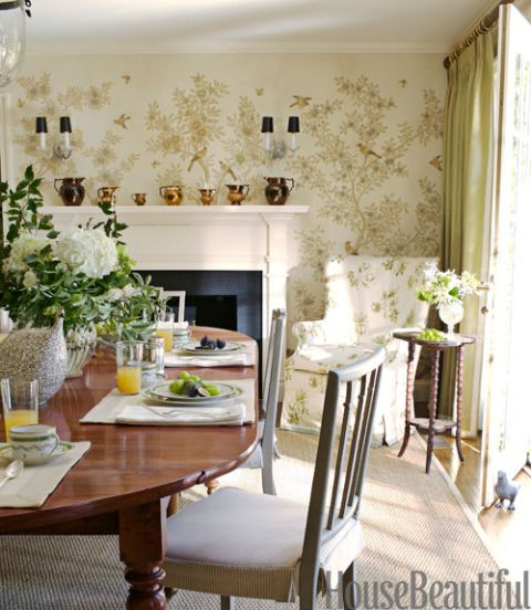 Rendered Garden Wall Ideas, Green Color Dining Room Green Dining Room Pictures