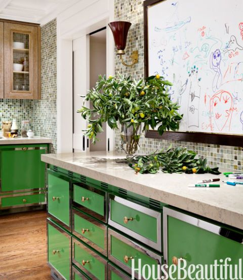A Modern Kitchen with a Colorful Twist