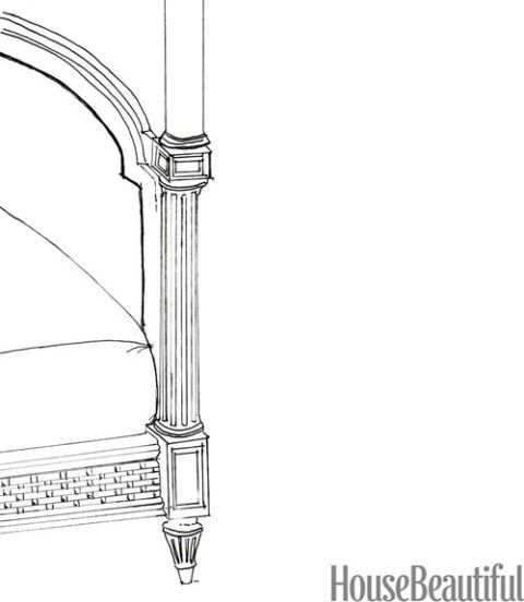 drawing of bed