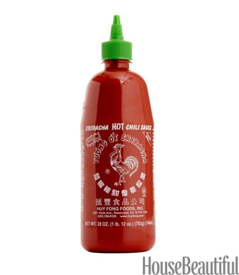 bottle of chili sauce