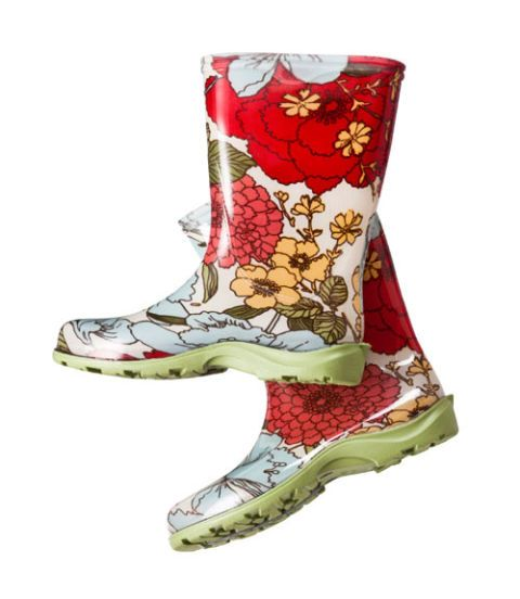 floral pattern boots