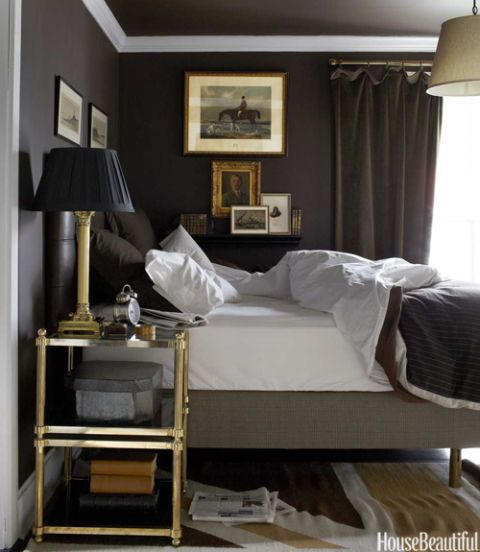 Dark British Style Bedroom   House Beautiful Pinterest Favorite Pins  October 29, 2013