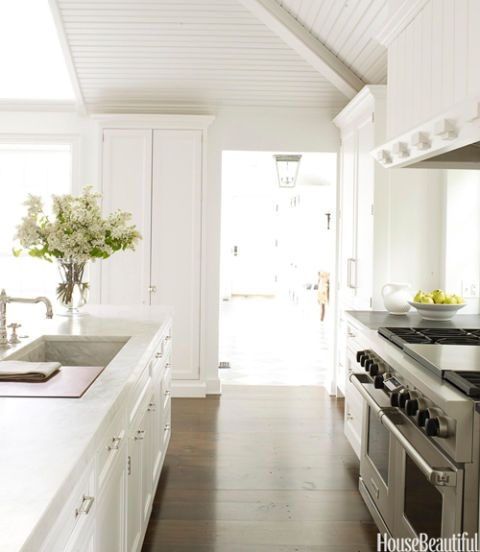 white kitchen workspace