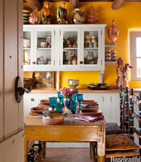 Yellow Kitchen With Santa Fe Style Southwest Kitchen Decor Custom Southwest Kitchen Design
