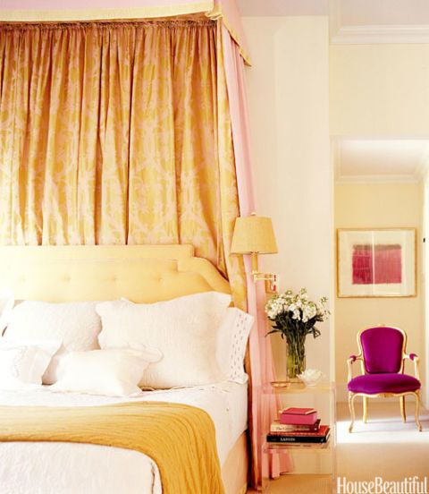bedroom with sensuous fabrics
