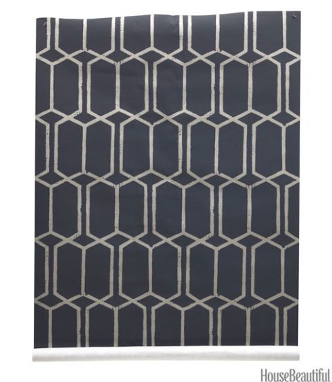 modern black trellis wallpaper