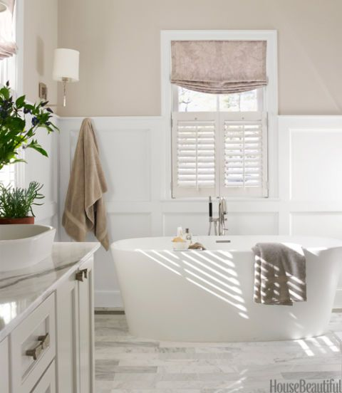 Beautiful Bathroom Color Schemes: Gray Bathroom By Erin Paige Pitts