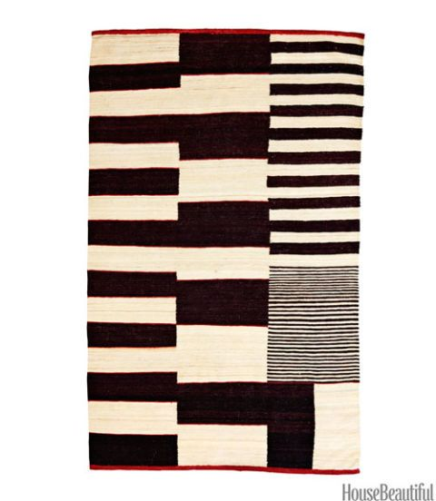 black and white modern rug