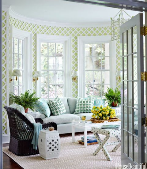 green sunroom