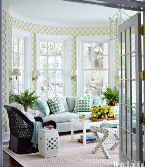 green sunroom